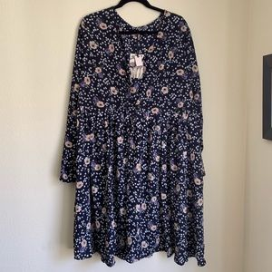 Alice and You Long Sleeve Ditzy Floral Mini Dress